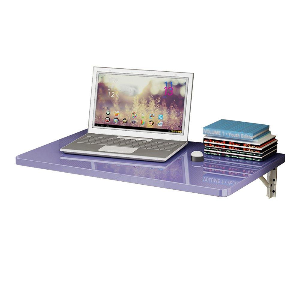 LXLAリビングルーム折りたたみテーブル壁ドロップリーフデスク子供コンピュータ研究ワークステーションキッチンダイニングオーガナイザーパープル (サイズ さいず : 80×40cm) B07DVRRJMP 80×40cm 80×40cm