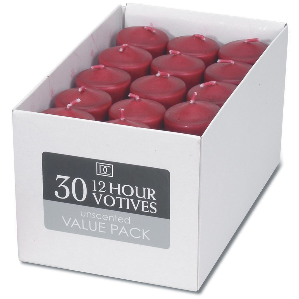 Red -Votive Candles, pack of 30