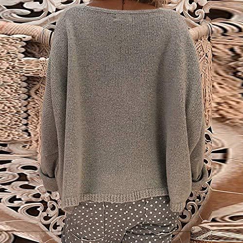 Donna Anteriore Maglie Xl Con Rosa Sweater Grigio Sleeve V Lunga Lanlern A Winter Maglione Allentata Pullover Dimensione Colore Wrap 2 Manica Maglietta Felpa Scollo Blusa Donna Da qtwBaT4