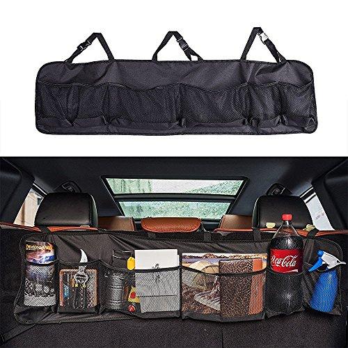 Creation® Maletero del coche organizador del almacenaje del asiento trasero, Asiento de atrás multipropósito de carga Accesorios Organizador (Negro)