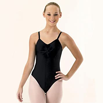 ae535f6f94a9 1st Position Camisole Leotard with Ruched Front for Dance (Black, X-Large)