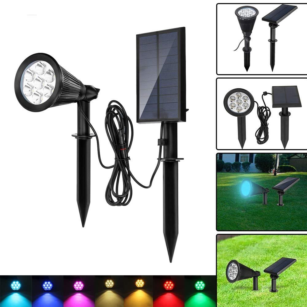 DADEQISH Solar 7 LED Cambiare colore Spot Light Wall Garden Outdoor Yard Landscape Lamp Illuminazione esterna
