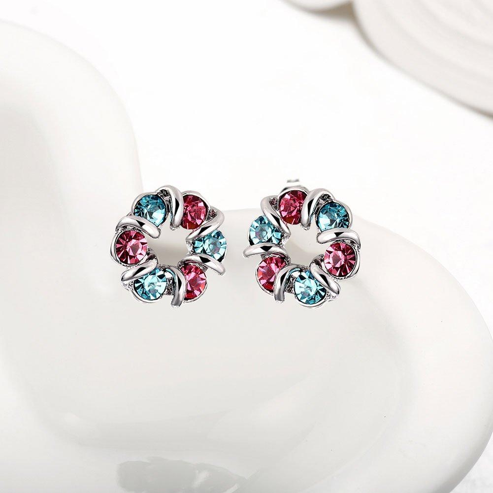 Threco chromatique Cercle Boucles doreilles pour femme oreille Ornements Cadeau pour Mode Fille