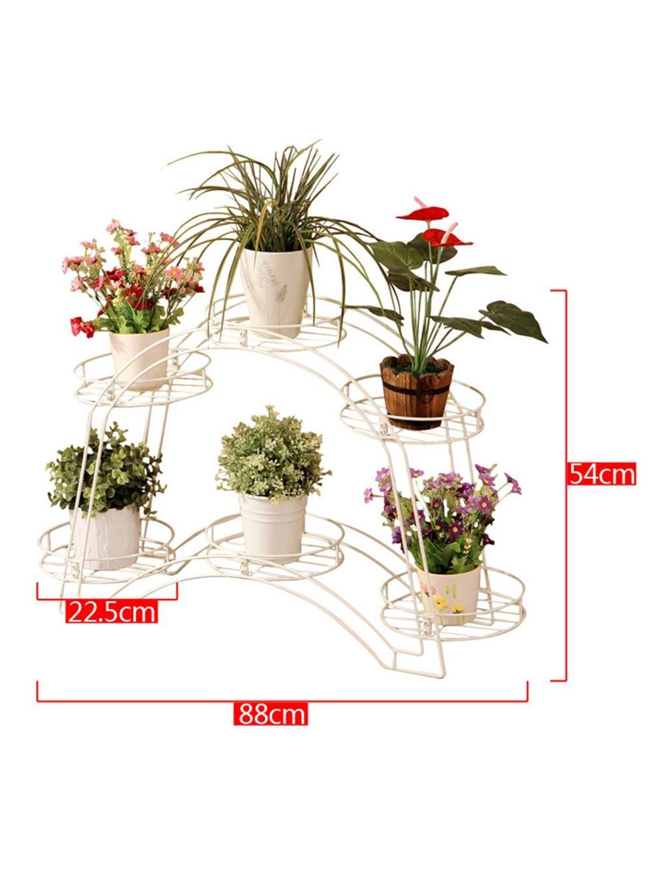 LB huajia ZHANWEI European-Style Gewölbte Double-Layer-Eisen-Blumentopf Regalbodenständer für Wohnzimmer Balkon