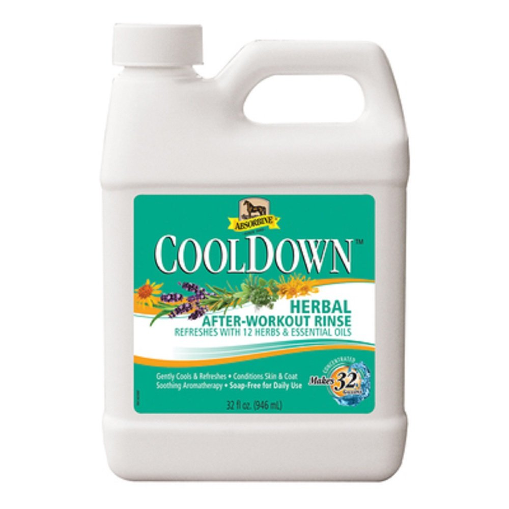 Absorbine 32 oz COOL DOWN Aromatherapy Herbal After-Workout Rinse Refresher Herbs & Essential Oils (32 oz Makes 32 GALLONS)