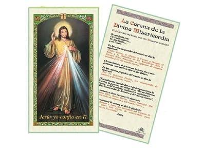 La Corona De La Divina Misericordia Tarjeta De Rezo Laminada Bendita Por Su Santidad Francisco