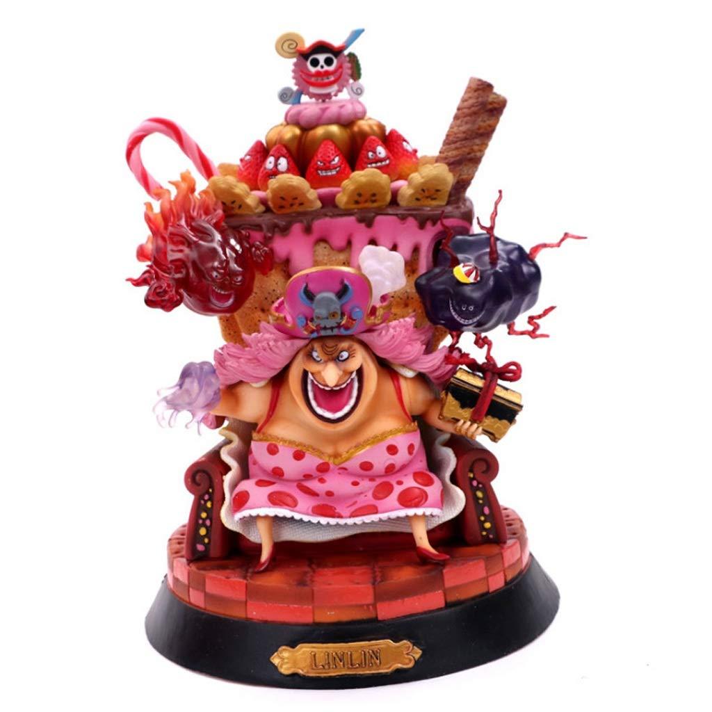 CCJW Anime Model Toy Ornaments Pirati Re Nautica Seduta Postura Statua Regalo Collezione Souvenir Regali di Natale Gioco Anime Amanti (Circa 23 cm)