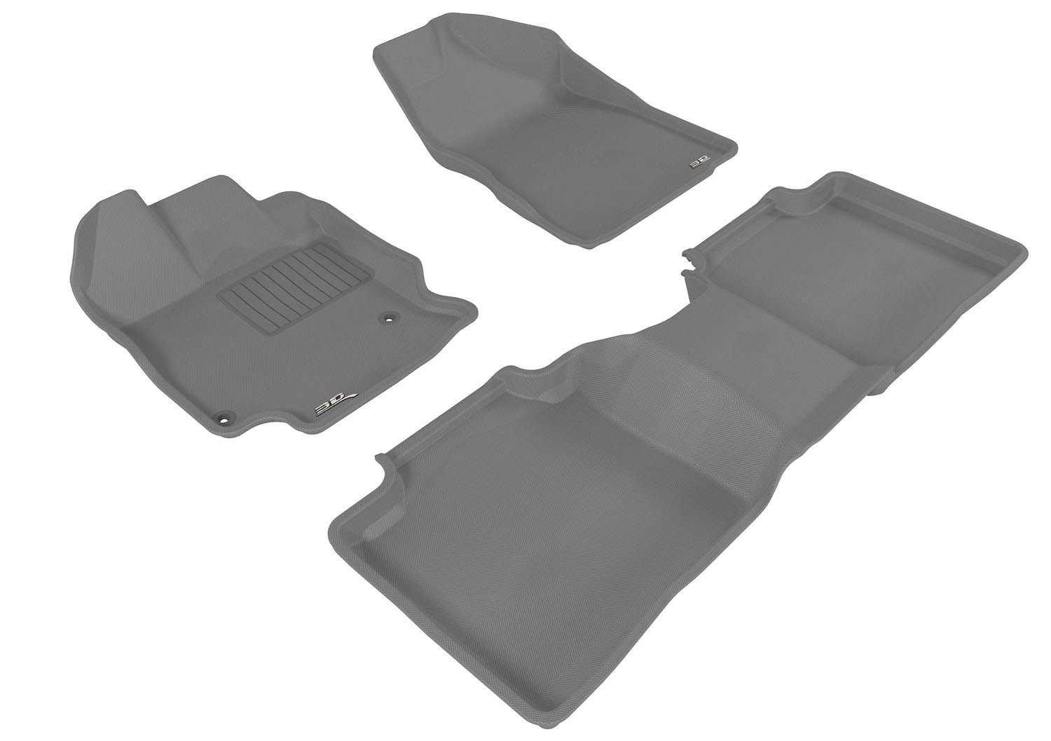 Kagu Rubber 3D MAXpider Front Row Custom Fit All-Weather Floor Mat for Select Toyota Venza Models Black