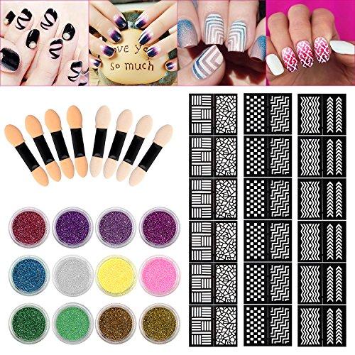 Sinsun Glitter Powder Manicure Stickers product image