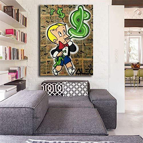 Geiqianjiumai Dollar Balloon Poster Print Wall Art Lienzo Imagen ...