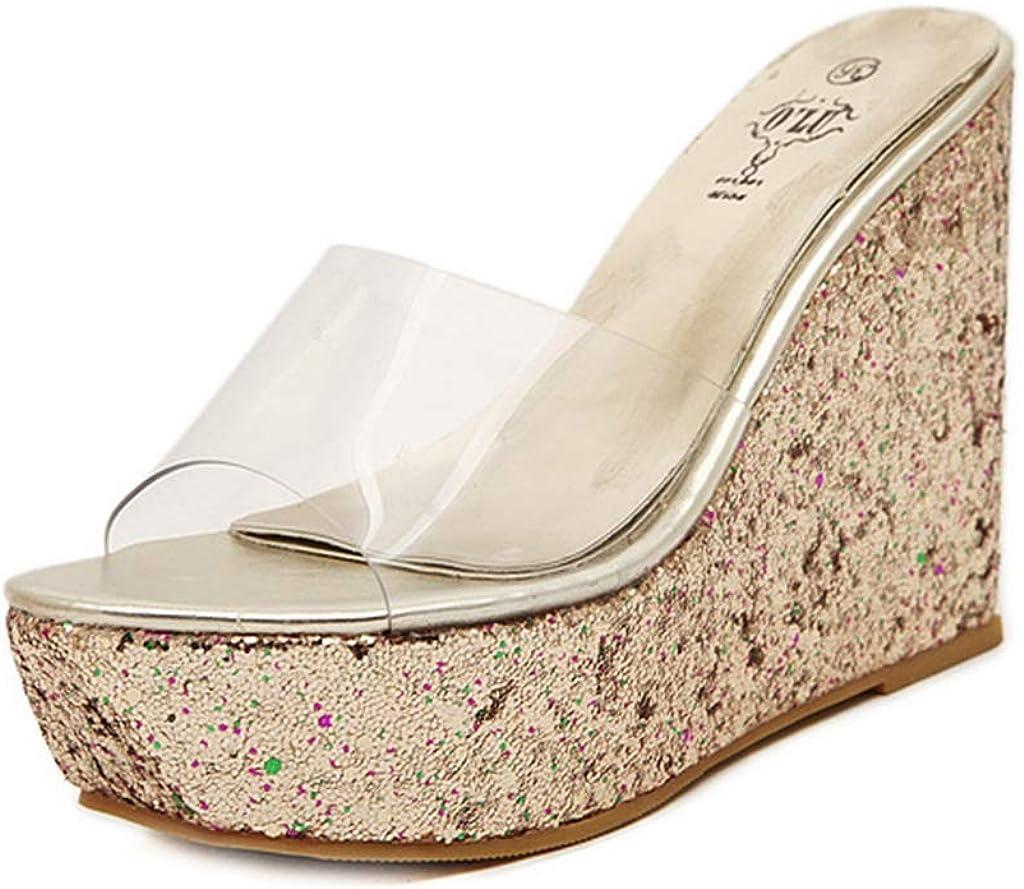 Thick High Heel Slide Sandal