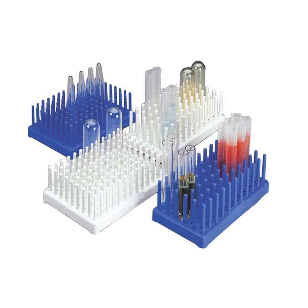 Nalgene 5977-0013 White Polypropylene Test Tube Peg Rack for 13mm Test Tubes, White (Pack of 2)