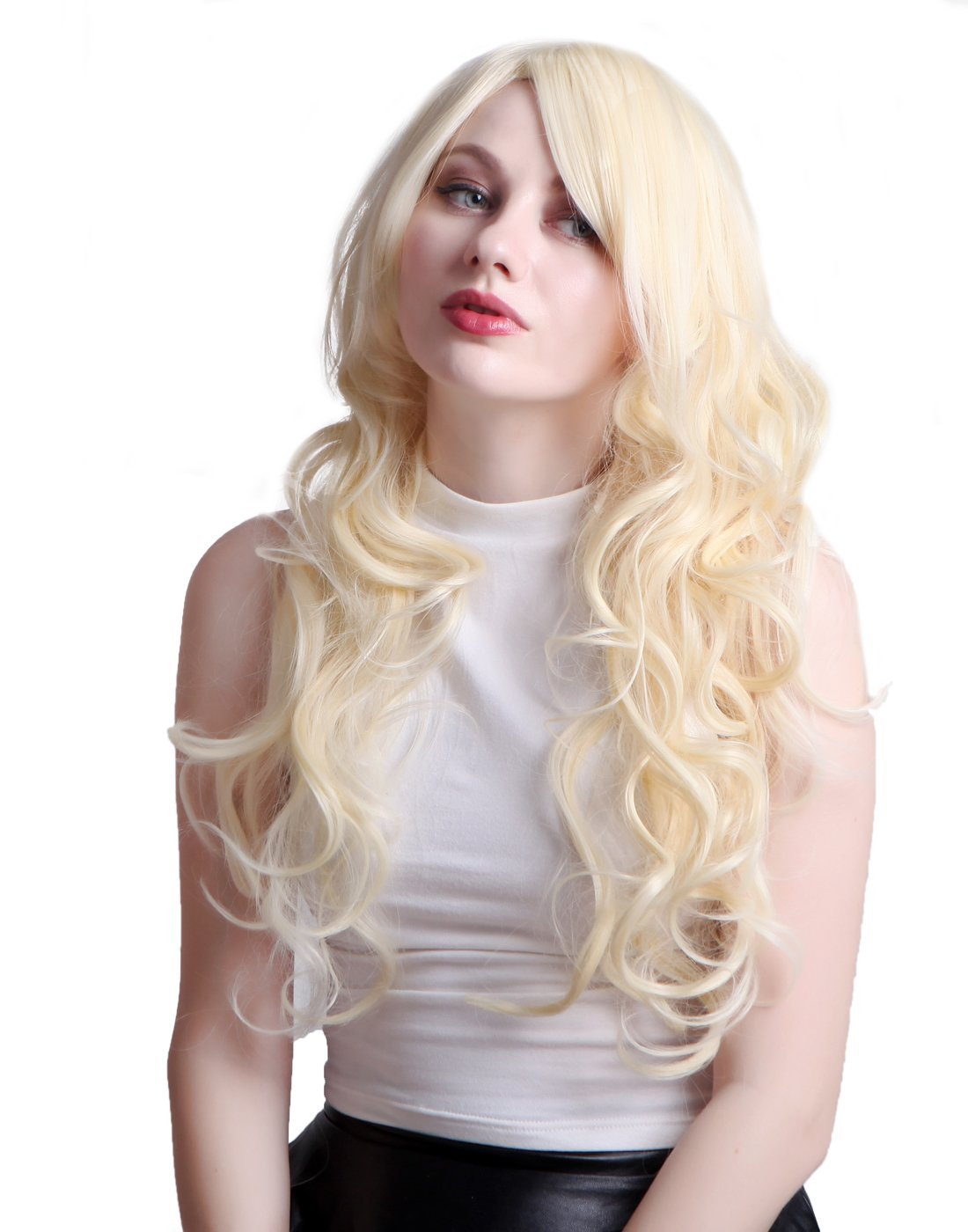 Amazon Hde Tm Long Wavy Blonde Hairstyle Wig Toys Games