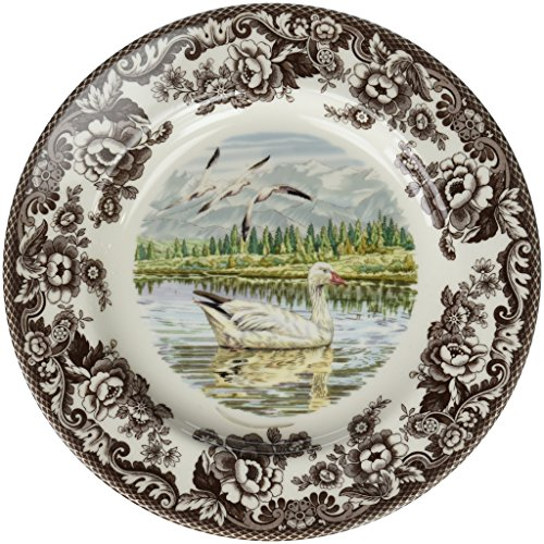 (Spode 1597143 Woodland Snow Goose Dinner Plate)