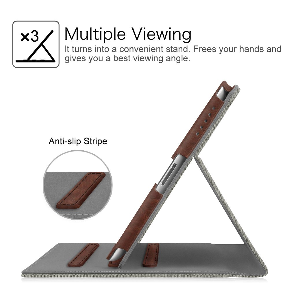 Multi-Angle Viewing iPad 3 /& iPad 4th Gen with Retina Display Corner Protection Auto Sleep//Wake for Apple iPad 2 - Folio Smart Stand Cover with Pocket Galaxy Fintie iPad 2//3//4 Case