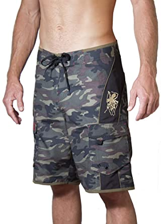 ff4b7134247d6 Maui Rippers Men's Camo Board Shorts - The Octopus   Quick Dry Triple  Stitch Swim Trunks