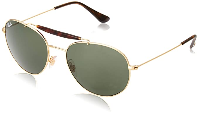 Ray-Ban 0Rb3540 Gafas de sol, Redondas, 56, Gold: Amazon.es ...