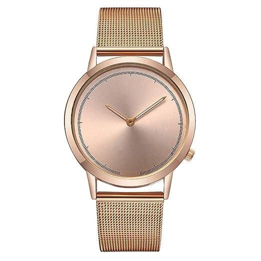 Yivise Reloj Casual para Hombre Banda de Acero Inoxidable Banda de Cuarzo Analógica Moda Pointer Display