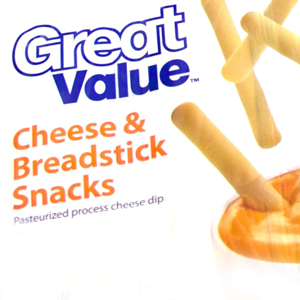 30 - Tasty Great Value Cheese and Breadstick Cracker Snack with Cheese Dip Pack (30 Ct) by Great Value (Image #1)