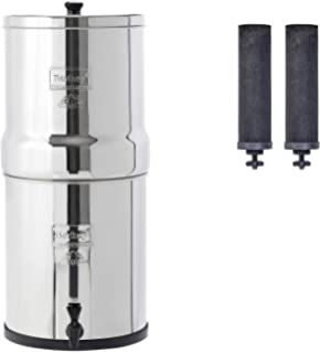 Big Berkey acero inoxidable sistema de filtración de agua con 2 ...