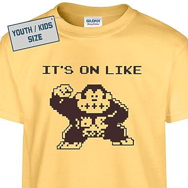 Amazon.com: Youth It's On Like Donkey Kong T Shirt Funny kids ...