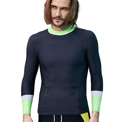 2ca2637184 SUPERBODY Mens Rash Guard Water Shirt Basic Skins Long Sleeve Compression UPF  50+ Sun Protection