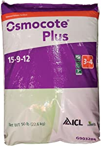 Osmocote Fertilizer 15-9-12, Slow Release 3 - 4 Months, 50lbs. Bag