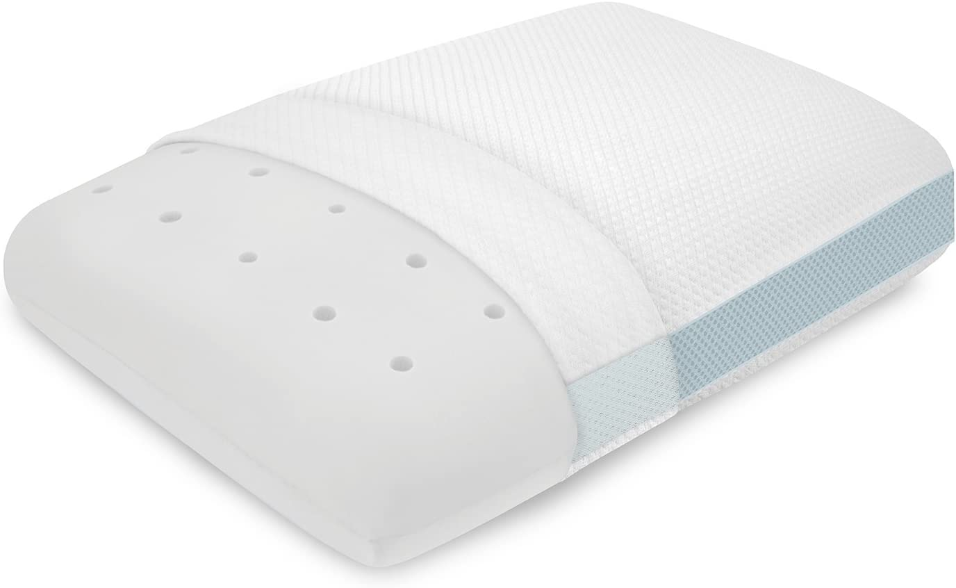 "BioPEDIC Performance Extreme Cooling Oversized Pillow, 16"" x 24"", White"