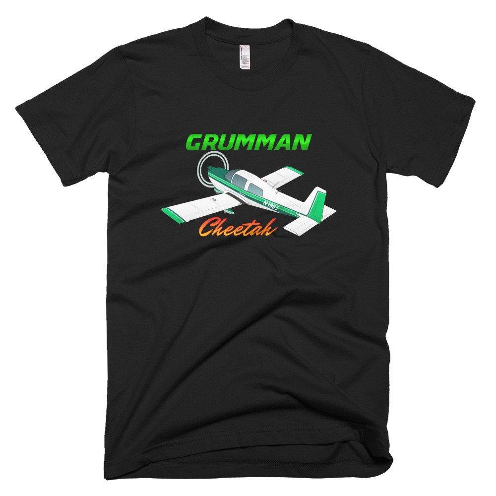 Personalized with N# Grumman American AA-5A Cheetah Custom Airplane T-Shirt