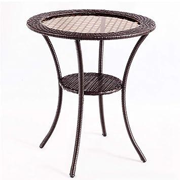 Amazon.com: Thaweesuk Shop - Mesa de café redonda de mimbre ...