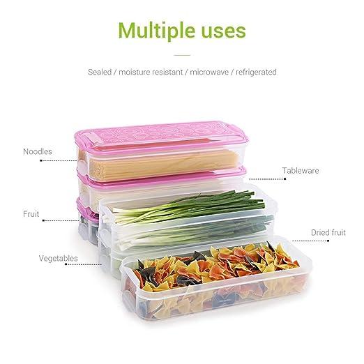 Caja de almacenamiento de alimentos con tapa, refrigerador ...
