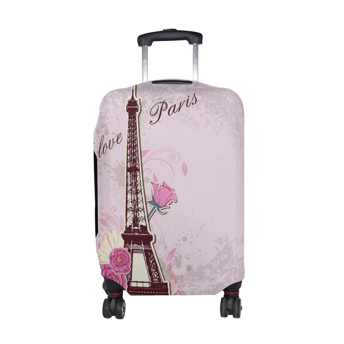 Cooper girl Love Paris Travel Luggage Cover Suitcase Protector Fits 23-26 Inch