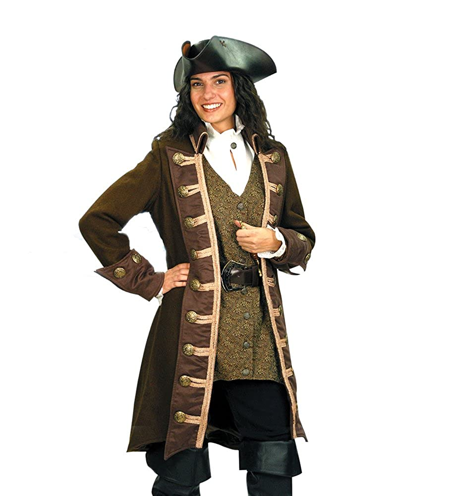 a7fafe7bc05 Amazon.com  Pirate Clothing for Women-Mary Read Pirate Coat-Halloween  Costume  Toys   Games