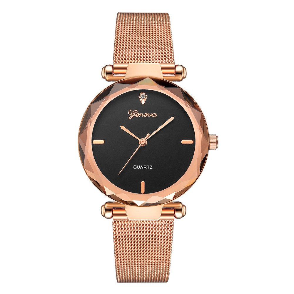 Geneva Classic Hot Luxury Women WatchStainless Steel Analog Quartz Analog Wrist Watch,Outsta 2019 Fashion Watches Birthday Lover Gift Spring Deals!Hot (A)