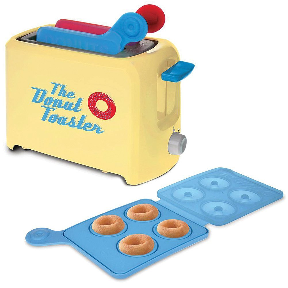 Donut Toaster - Makes 8 Breakfast Treats Each Time w/Your Favorite Cake Mix