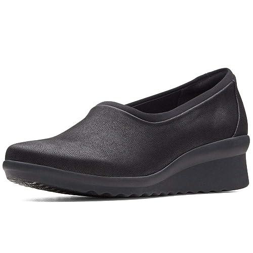 Fit Tacón Ancho Zapatos Caddell De Jaylin Mujer Clarks Cuña SVLUqpzMG