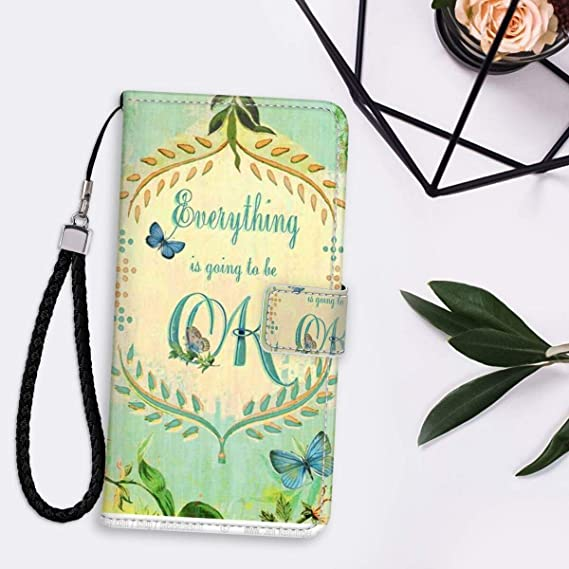 Butterfly Wallpaper Iphone 11 Pro Max 2019 6 5 Version Leather Folio Flip Case Shockproof Amazon Ca Cell Phones Accessories