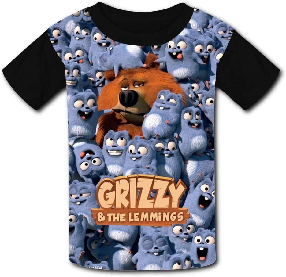 Fan4y Kid Fashion Gri-zzy and Lem-mings Short Sleeve T-Shirt