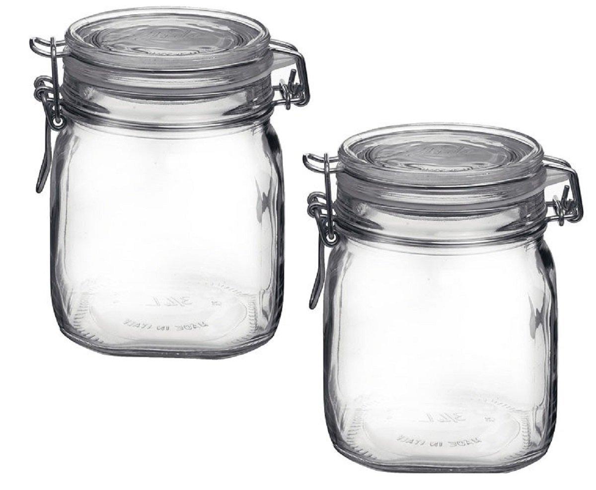Bormioli Rocco Fido Clear Jar .75 Liter 25.25 oz (Pack of 2)
