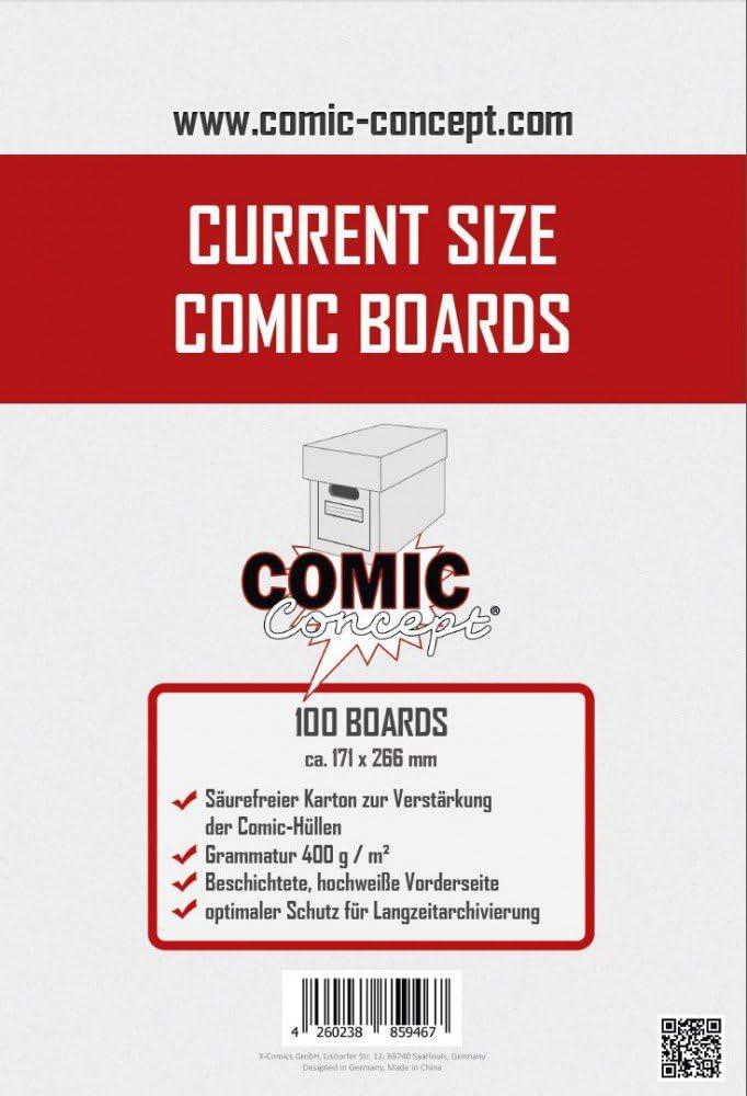Comic Concept Comic Boards Current Size (100 Stück) [Importación alemana]: Amazon.es: Juguetes y juegos