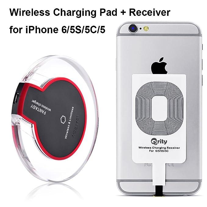 50 opinioni per Qrity Caricabatterie Wireless QI- Caricatore Qi Wireless Senza Fili + iPhone