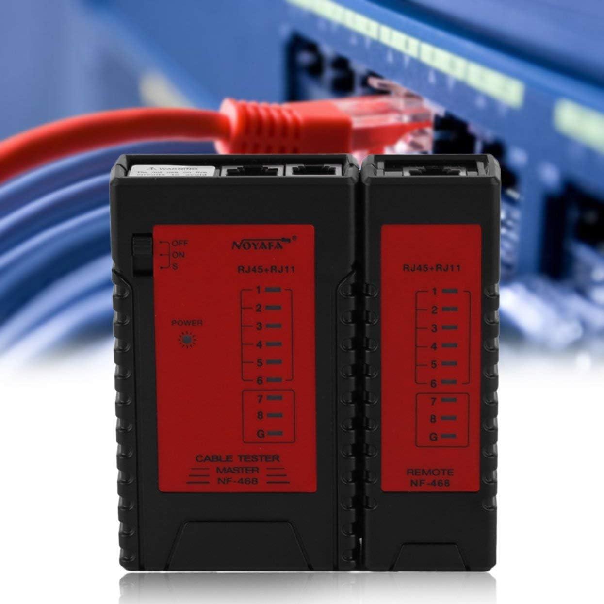 Tree-on-Life Tester on-off Via Cavo Ethernet Professionale NF-468 RJ45 RJ11 RJ12 LAN Cable Line Tester Test di Rete Strumenti Verifica