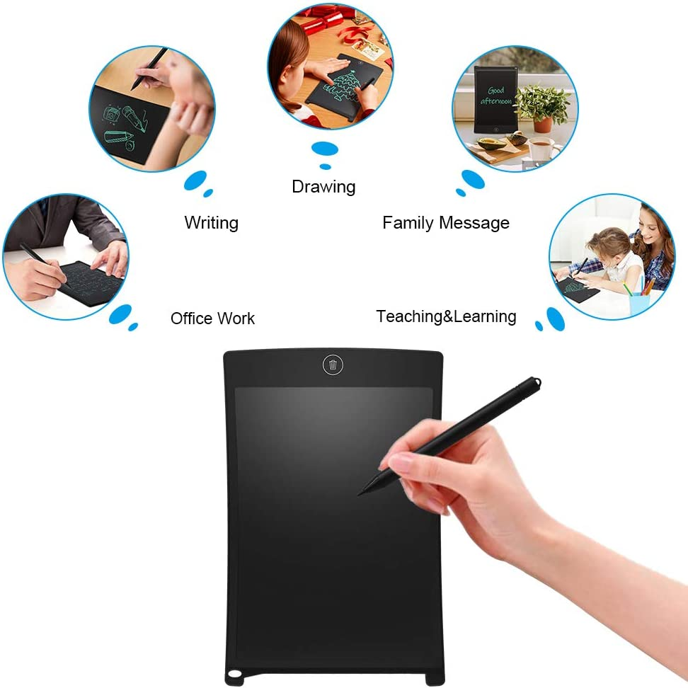 Graphic Digital Anti Function Drawing Tablet for Office Whiteboard Bulletin Board-Blue 8.5-inch JRMU LCD Electronic Writing Tablet Doodle Pads