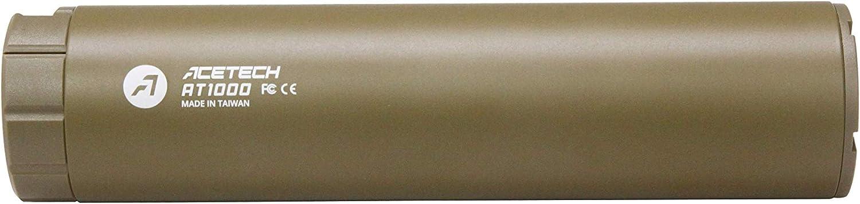 ACETECH - Pistola de aire comprimido AT1000 (14 mm, brilla en la oscuridad), Bronceado sin vaina