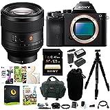 Sony Alpha a7 Mirrorless Digital Camera w/ FE 85mm f/1.4 GM Lens & 128GB SD Card Bundle