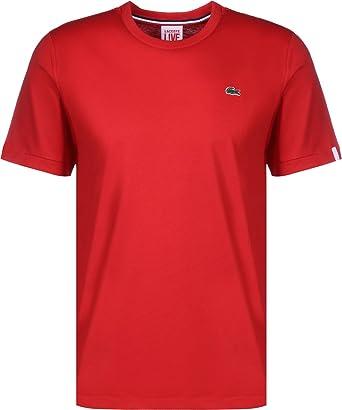 9bee0564dc LACOSTE T- Shirt Live Basic Rouge M Rouge: Amazon.fr: Vêtements et ...