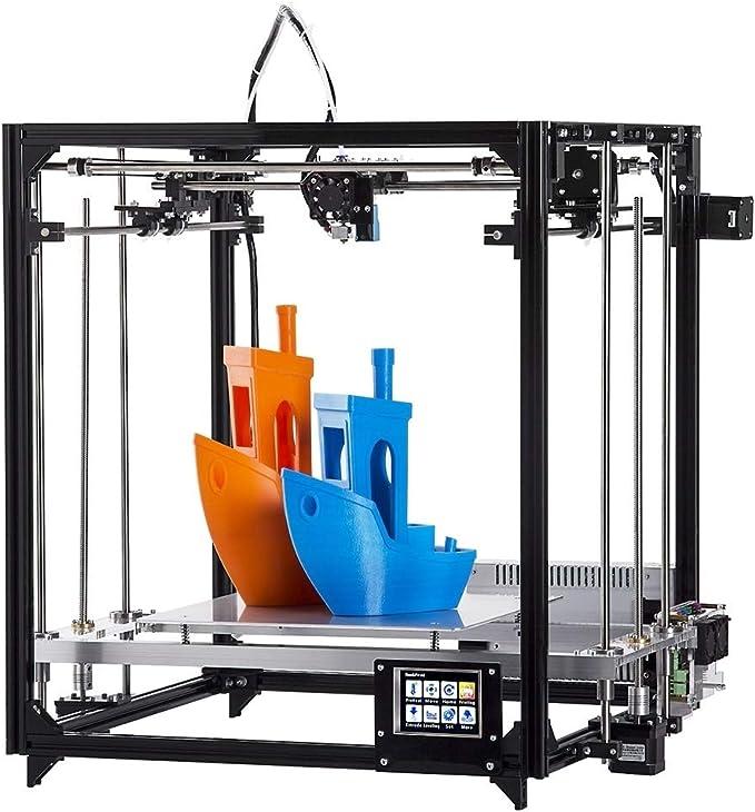 Impresora 3D Resina Impresora 3D Grande, FLSUN_F2 DIY Kit de la Pantalla táctil de nivelación automática Cuadrado del Cubo Grande Full Metal Tamaño impresión de Impresora de Escritorio 3D con calefac: Amazon.es: