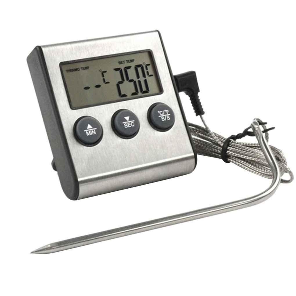 Affichage num/érique LCD sonde Alimentaire Thermom/ètre minuterie de Cuisine ustensiles de Cuisson BBQ Viande Meter temp/érature de Cuisson Regard Natral