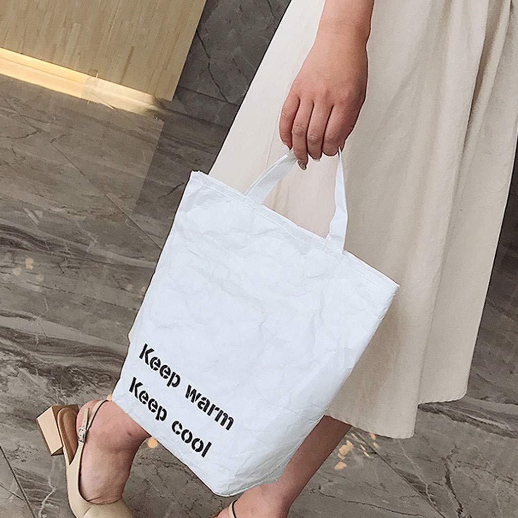 YWLINK Bolsa De Aislamiento De Luz De Moda Bolsa De Almacenamiento Bolsa De Hielo Bolsa De Papel Bolsa Impermeable Plegable Compras Bolso De Mano Bandolera Simple Casual Fiesta En La Playa