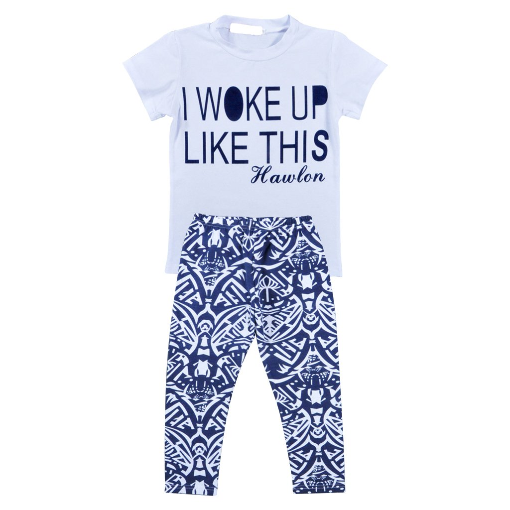 MagiDeal Kids Baby Girls Outfit Clothes T-shirt Tops+Long Pants Trousers